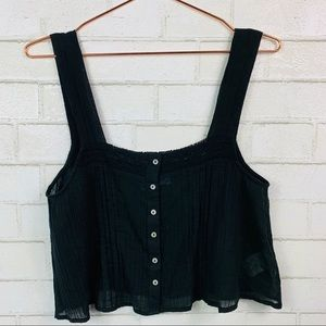 Urban Outfitters buttoned crop top tank medium